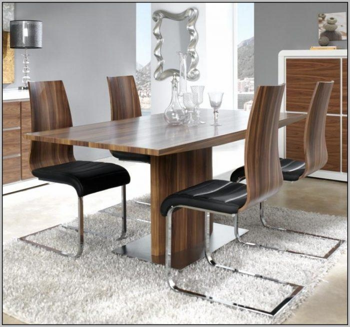 Modern Walnut Dining Room Furniture – Chairs : Home Decorating Throughout Walnut Dining Tables And Chairs (Image 11 of 20)