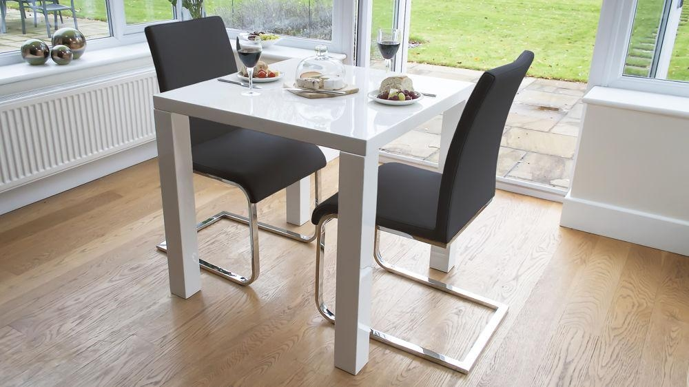 Modern White Gloss Kitchen Dining Set | Dining Chairs | Uk Regarding Verona Dining Tables (Image 10 of 20)
