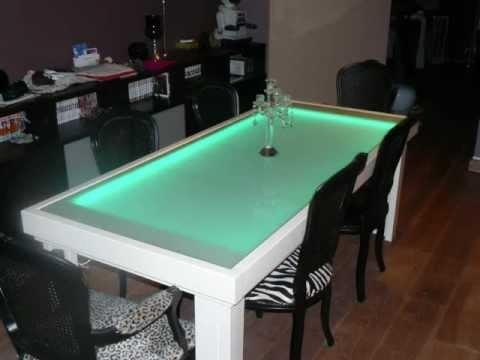 Modest Ideas Led Dining Table Grand Online Get Cheap Led Dining Throughout Dining Tables With Led Lights (Image 16 of 20)