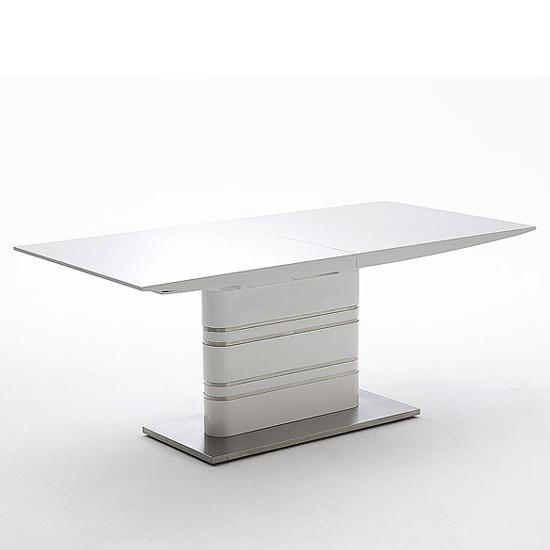 Modus Extending White Gloss Dining Table 19540 Furniture In In White Extendable Dining Tables (Image 14 of 20)