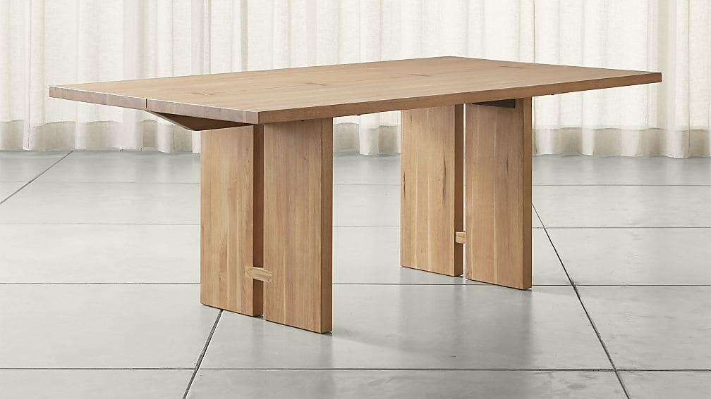 Monarch Natural Solid Walnut Dining Tables | Crate And Barrel For Walnut Dining Tables (Image 14 of 20)