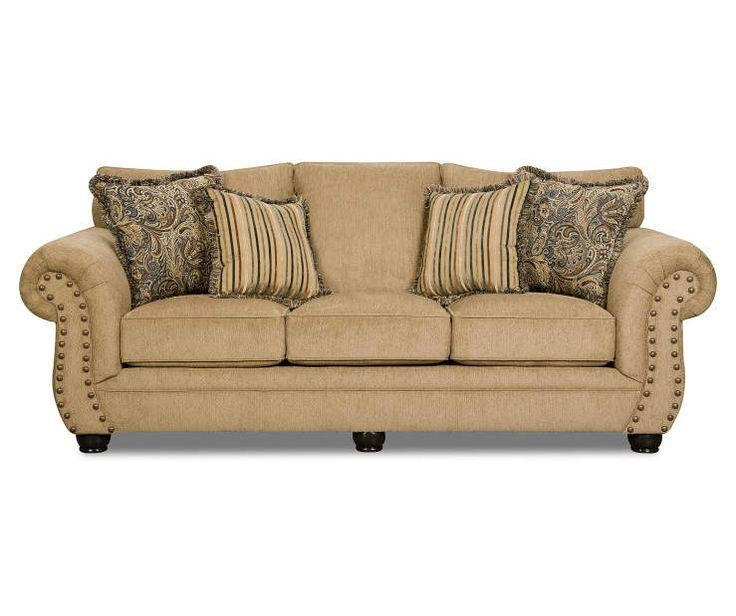 Morgan Antique Memory Foam Sofa At Big Lots (Image 19 of 20)