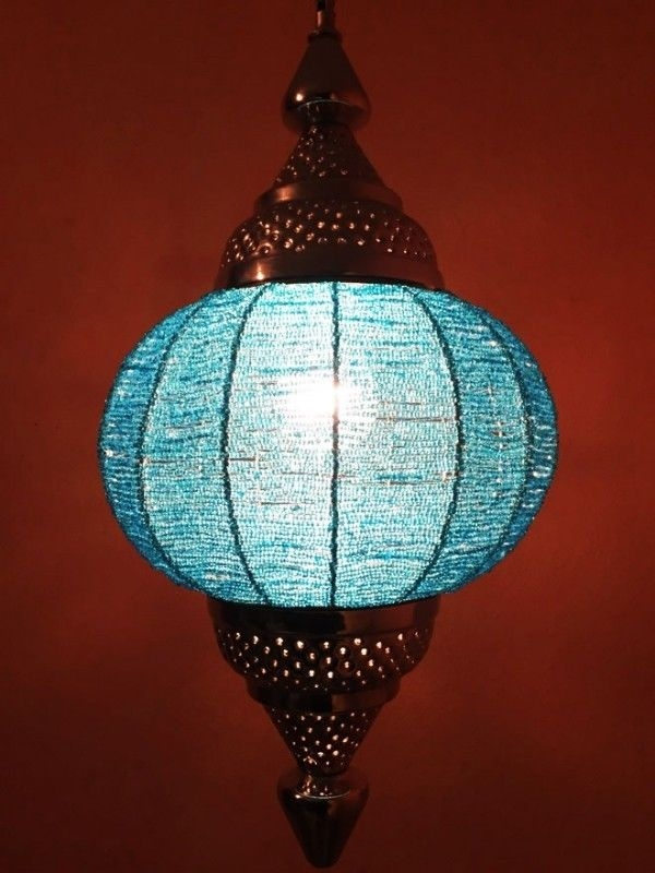 Moroccan Oriental Arabian Pendant Ceiling Light Lamp Lighting With Regard To Turquoise Lantern Chandeliers (View 19 of 25)