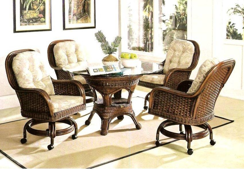 Morocccan Wicker & Rattan Dining Furniture | Kozy Kingdom Throughout Rattan Dining Tables And Chairs (Image 12 of 20)