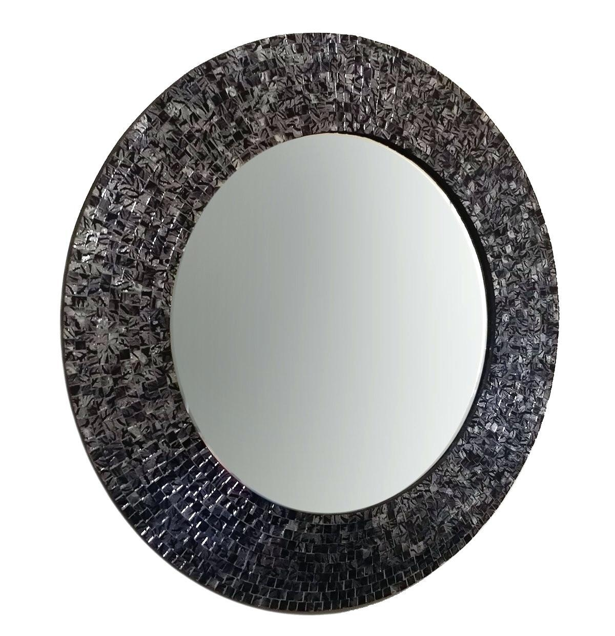 Mosaic Mirror Wall Tiles Large Round – Shopwiz For Round Mosaic Mirrors (Image 11 of 20)