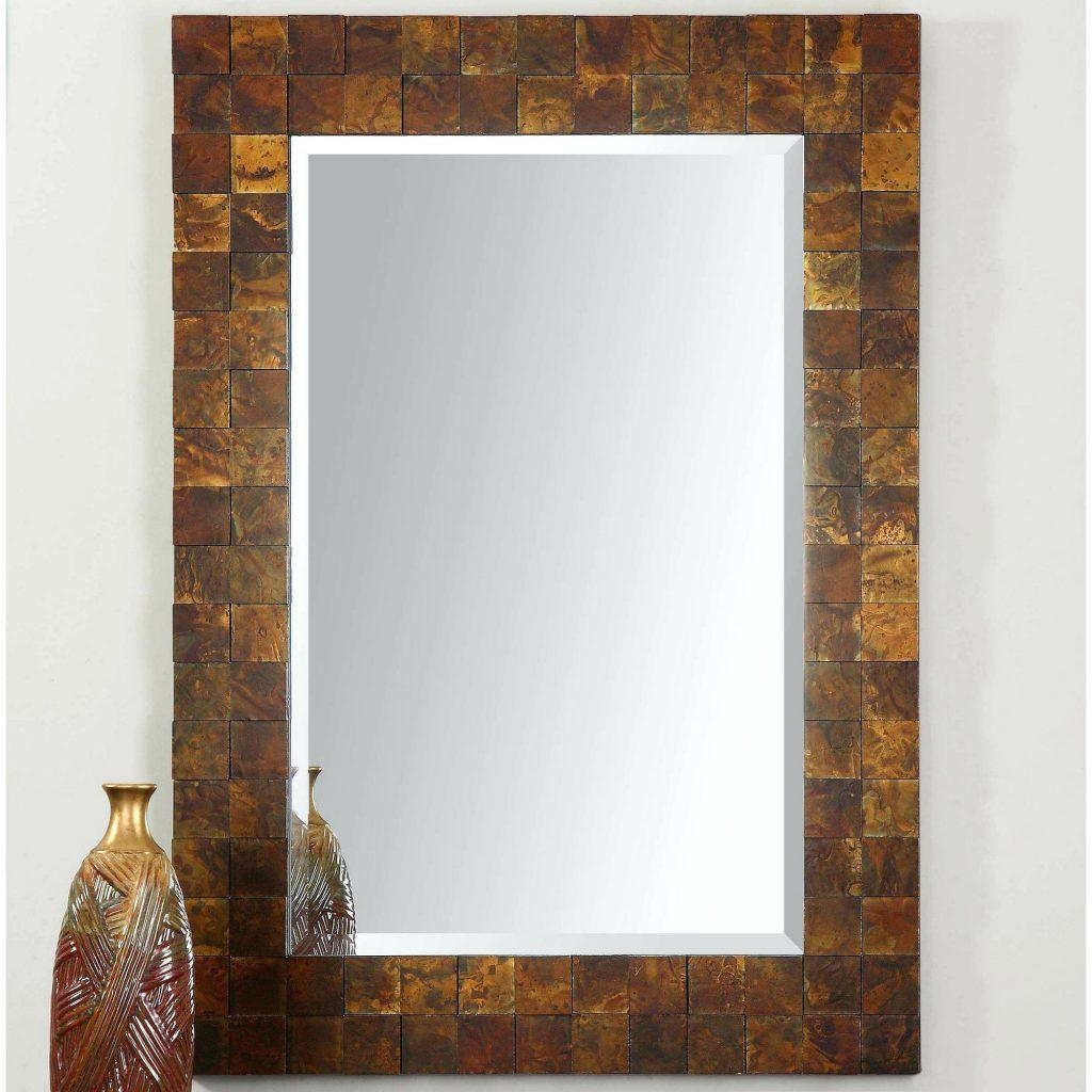 Mosaic Rectangular Mirror – Shopwiz With Regard To Large Mosaic Mirror (Image 15 of 20)