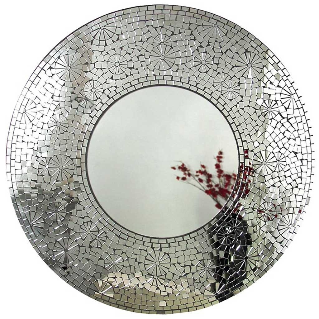 Mosaic Round Mirror – Hydes Furniture & Interiors Intended For Round Mosaic Mirrors (Image 13 of 20)