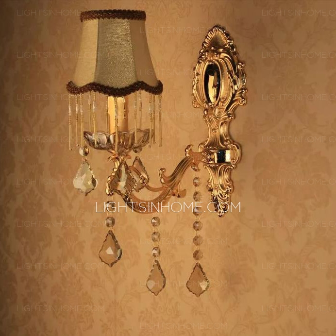 Mounted Candle Wall Sconces With Crystals E14 Intended For Wall Mounted Candle Chandeliers (Image 20 of 25)