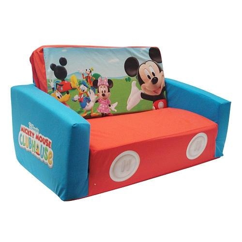 Mouse Clubhouse Flip Open Sofa With Slumber In Mickey Flip Sofas (Image 10 of 20)
