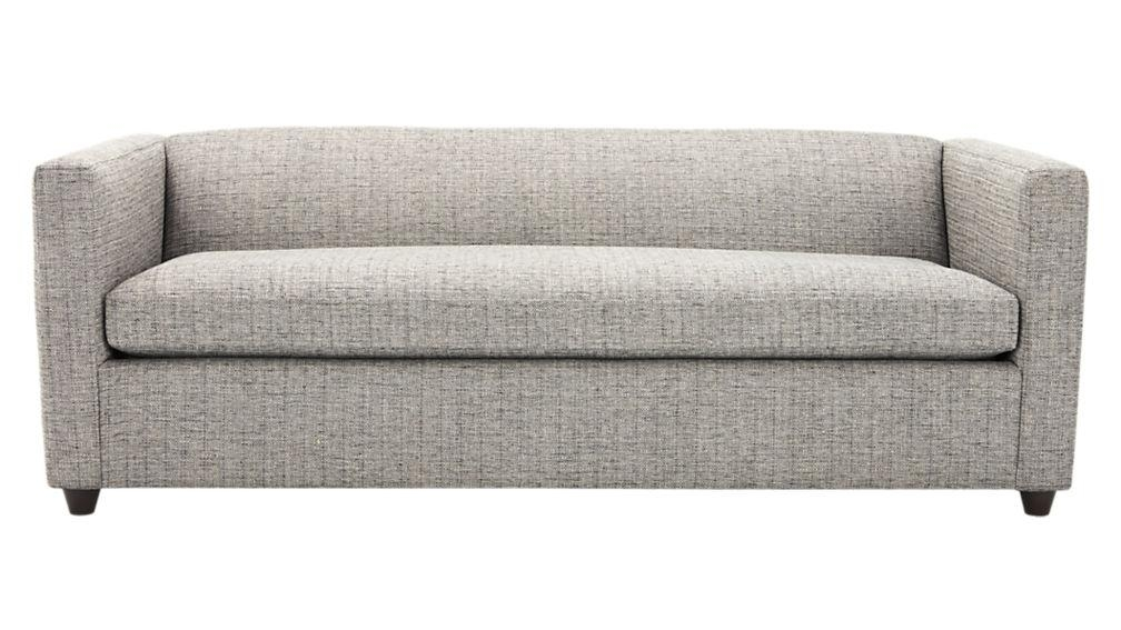 Movie Salt And Pepper Queen Sleeper Sofa | Cb2 With Regard To Queen Sofa Beds (Image 12 of 20)