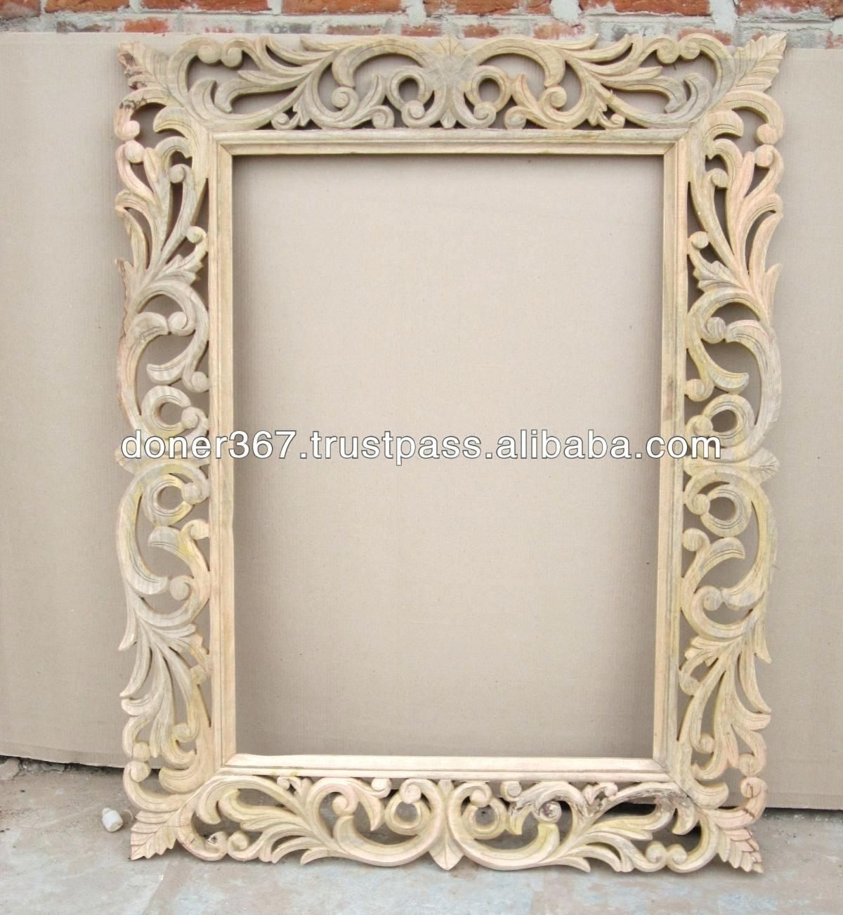 Mr 201218 Wooden Frame Glass Wall Mirror With Antique Silver For Big Silver Mirror (Image 17 of 20)