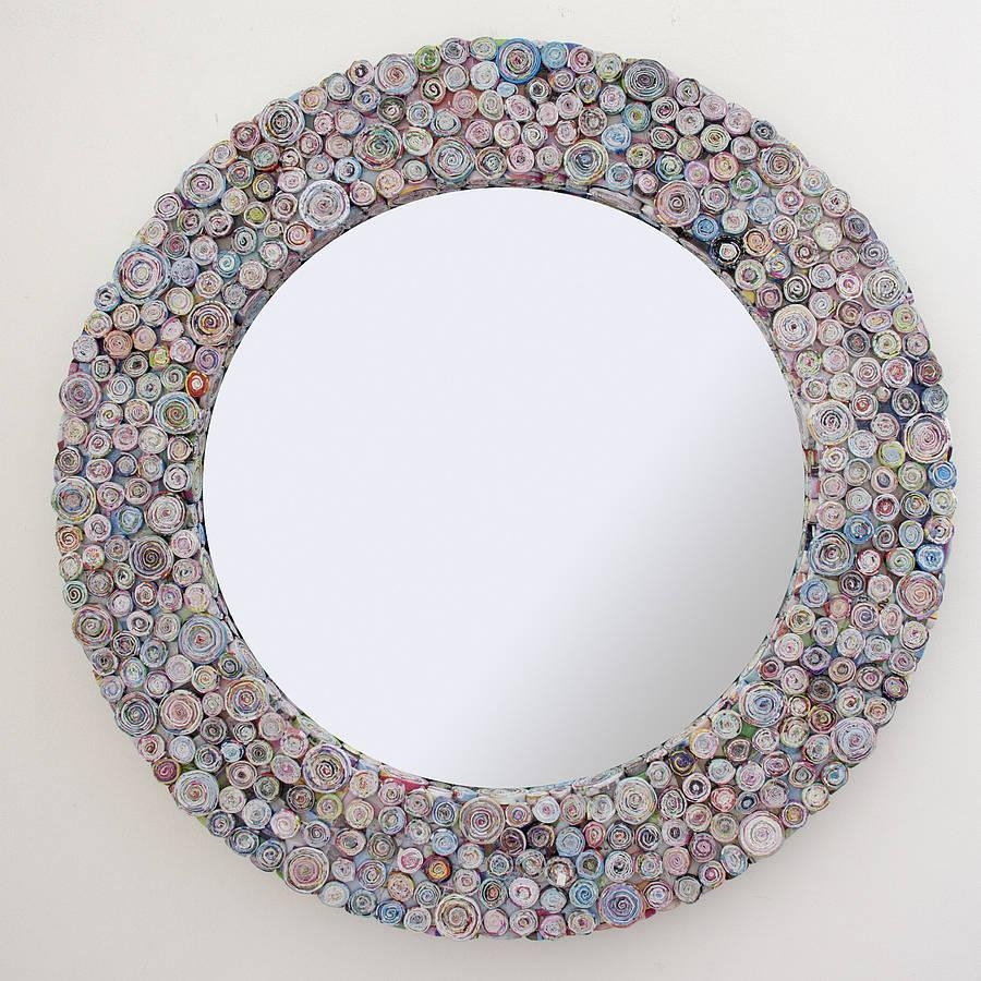 Multicoloured Recycled Round Mirrordecorative Mirrors Online Throughout Decorative Round Mirrors (Image 14 of 20)