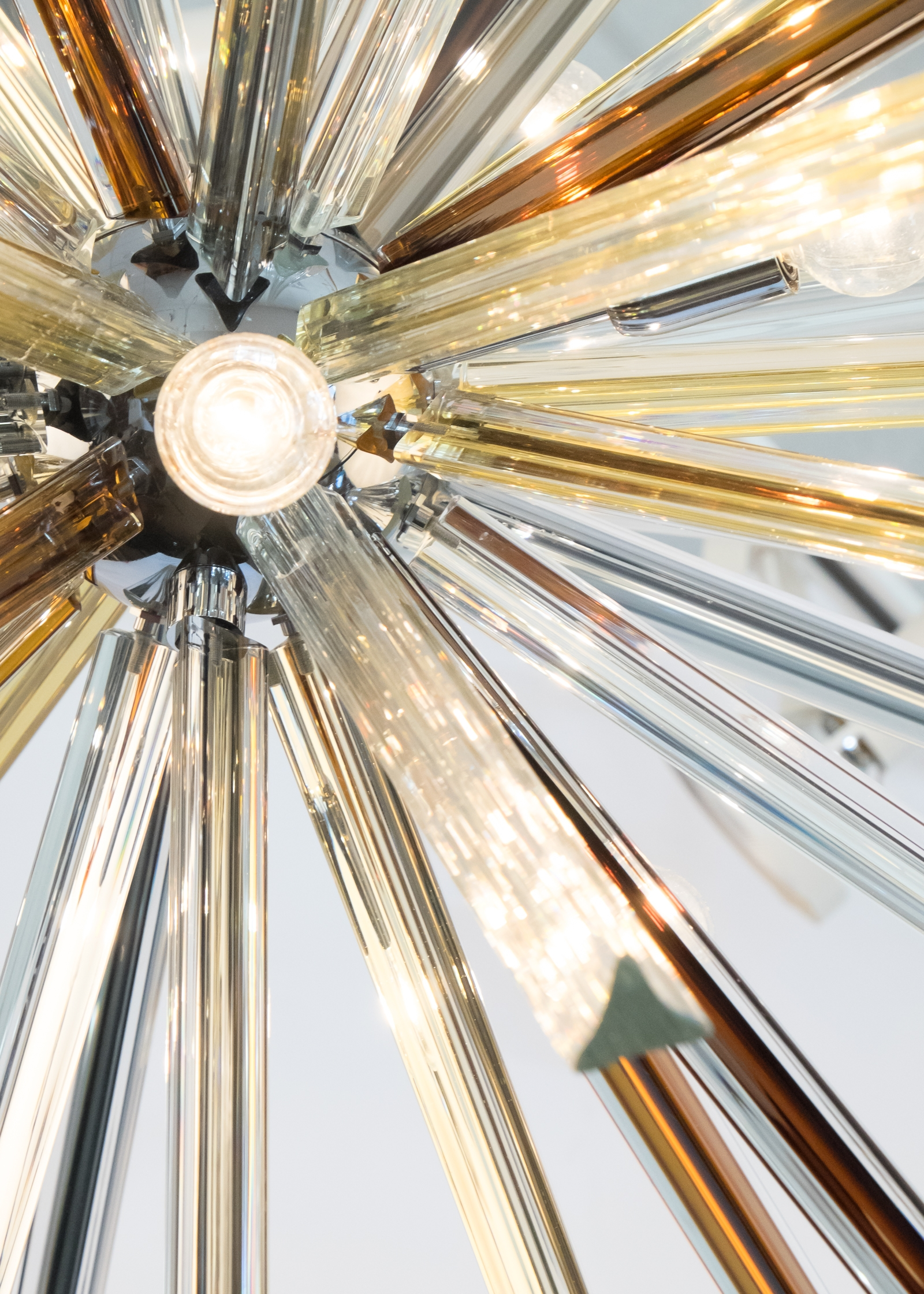 Murano Glass Tea And Amber Sputnik Chandelier Jean Marc Fray With Regard To Chrome Sputnik Chandeliers (Image 13 of 25)