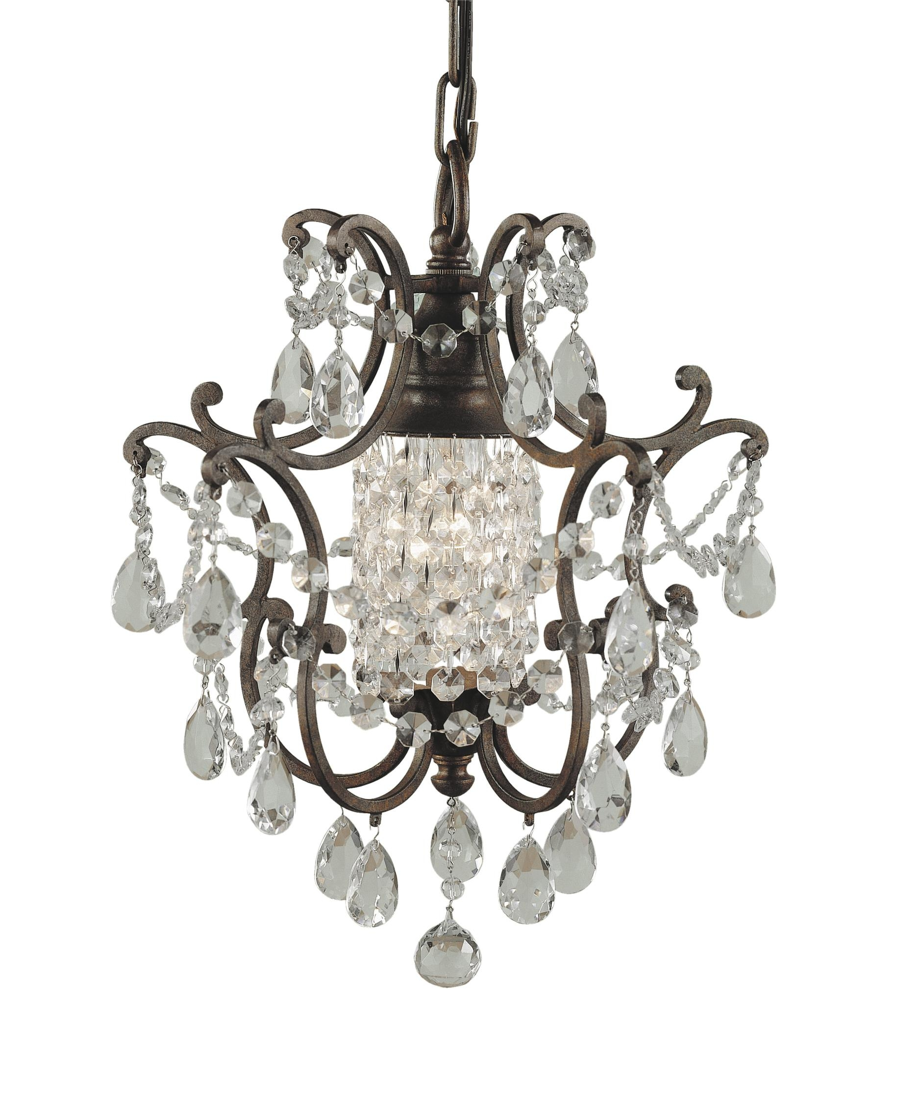 Murray Feiss F1879 1 Maison De Ville 11 Inch Wide 1 Light Mini With Feiss Chandeliers (Image 19 of 25)