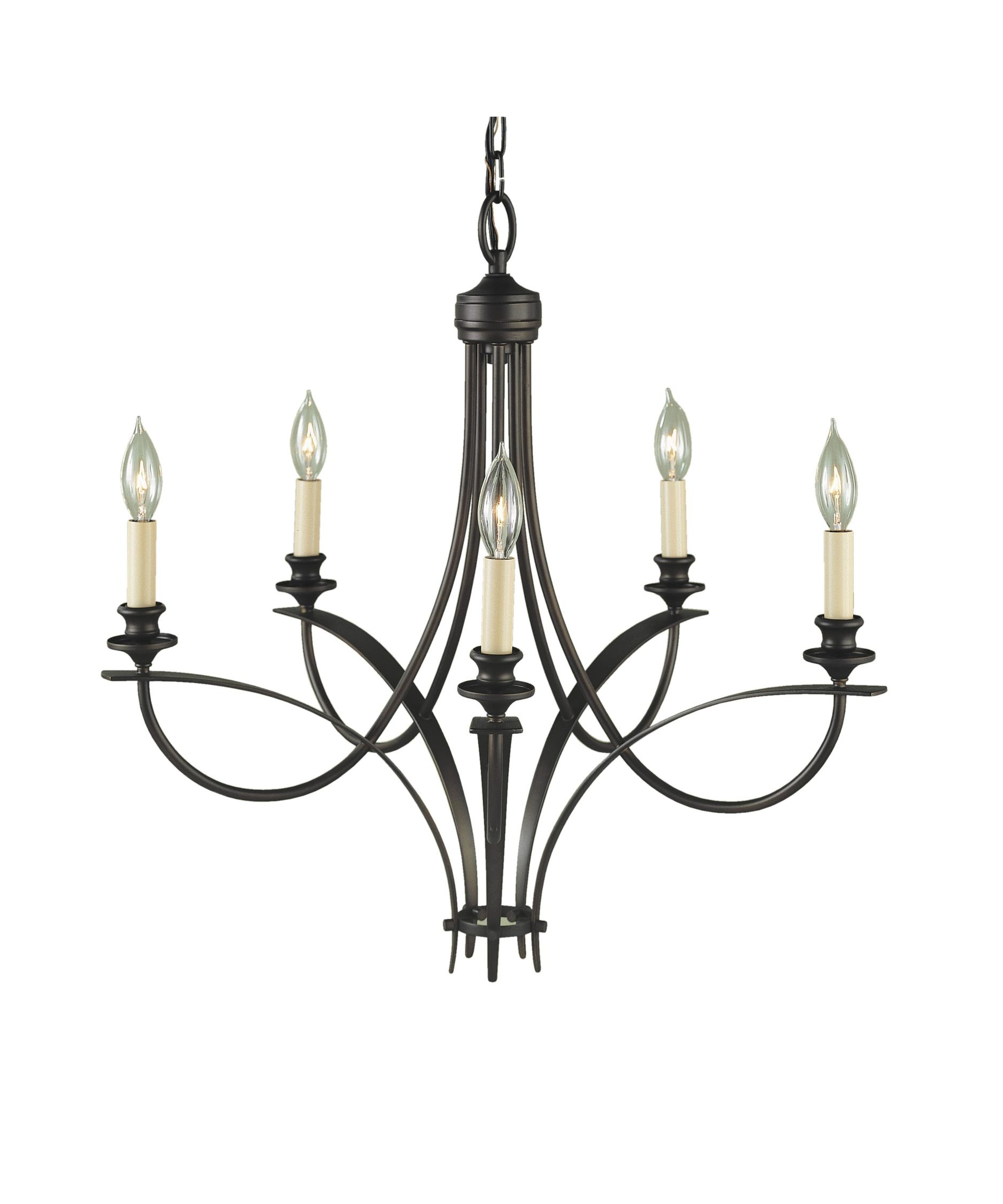 Murray Feiss F1888 5 Boulevard 26 Inch Wide 5 Light Chandelier In Feiss Chandeliers (Image 20 of 25)