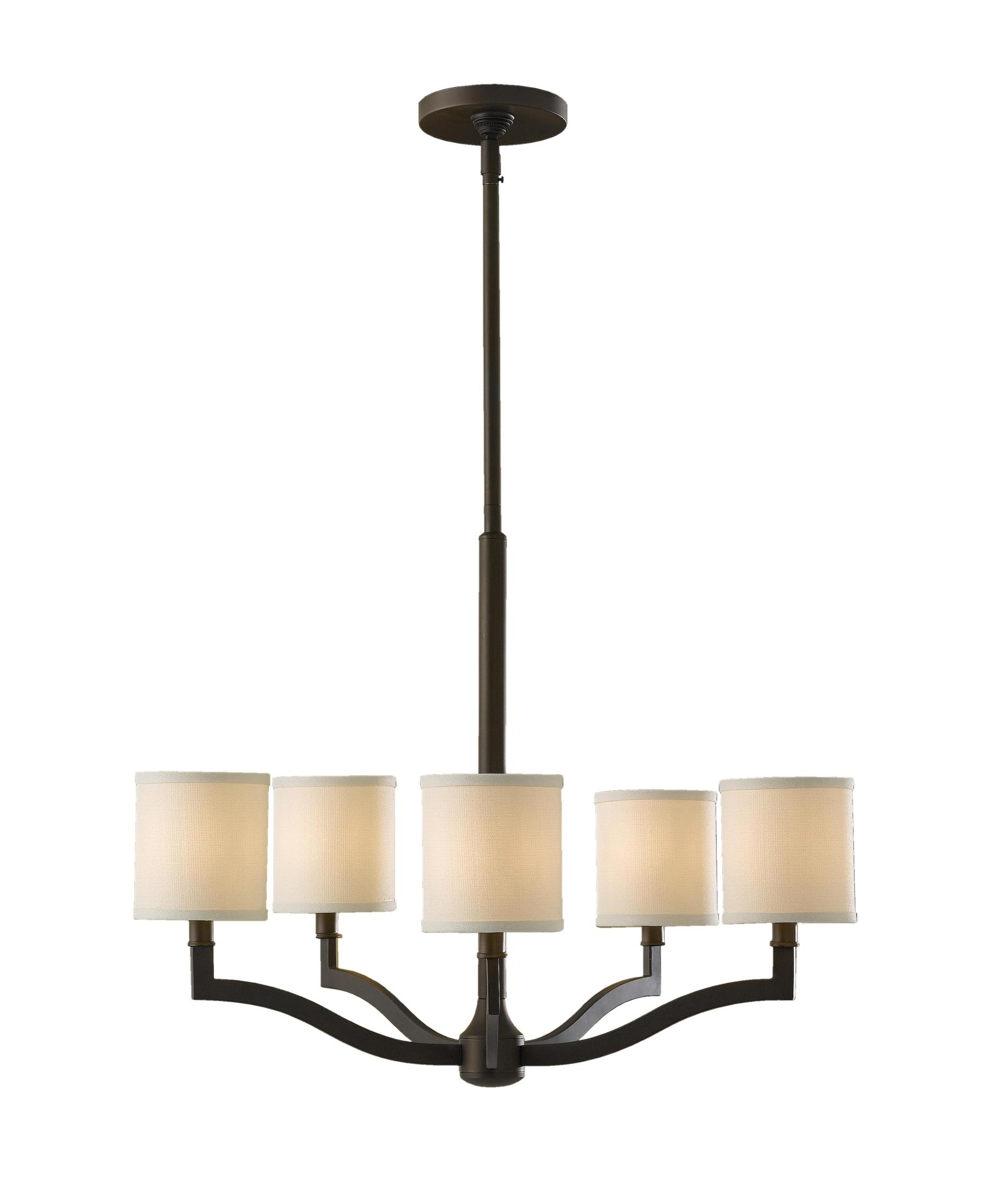 Murray Feiss F2519 5 Stelle 26 Inch Wide 5 Light Chandelier For Linen Chandeliers (Image 18 of 25)
