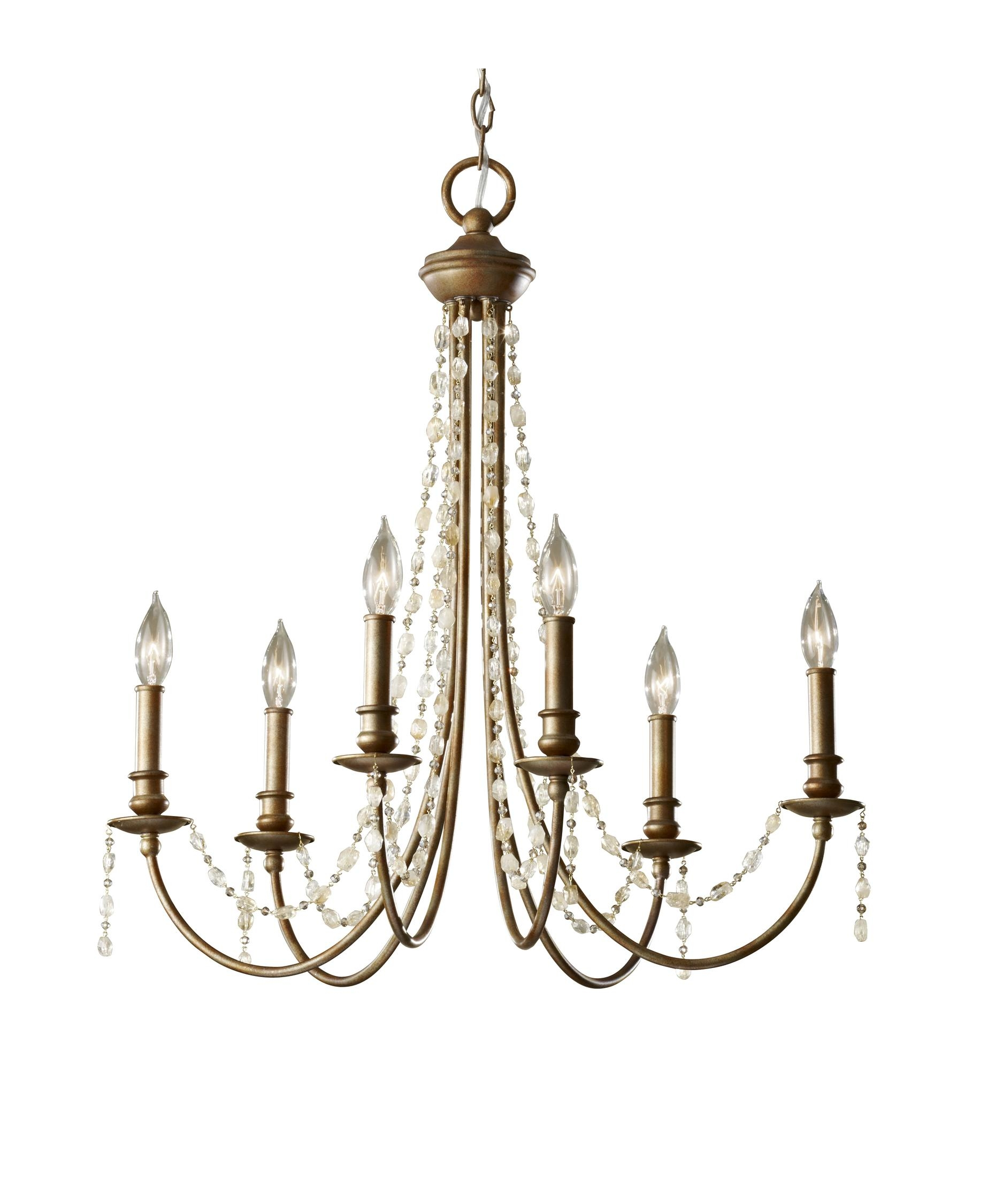 Murray Feiss F2712 6 Aura 27 Inch Wide 6 Light Chandelier Throughout Feiss Chandeliers (Image 21 of 25)
