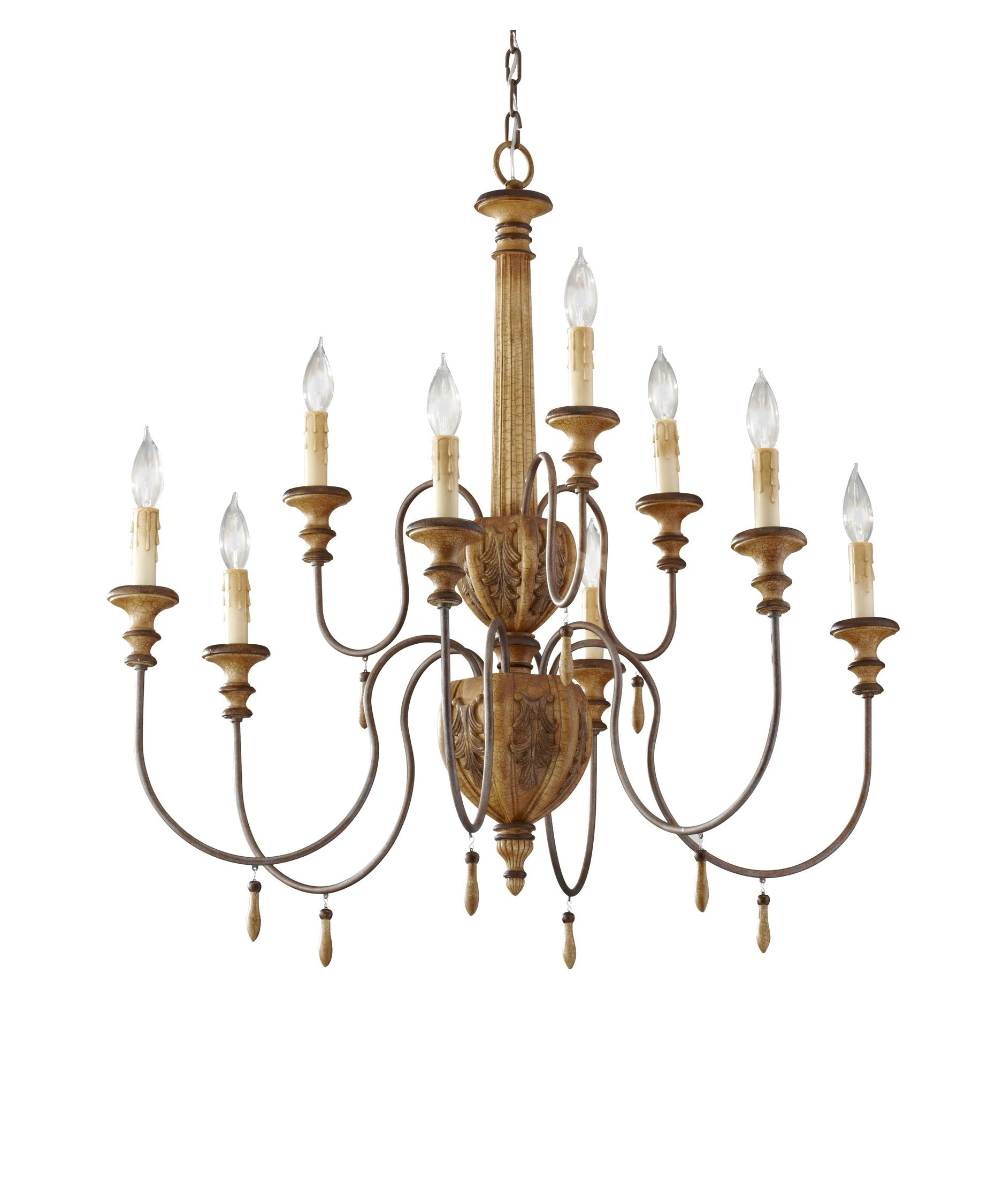 Murray Feiss F2734 63 Annabelle 32 Inch Wide 9 Light Chandelier Intended For Feiss Chandeliers (Image 22 of 25)