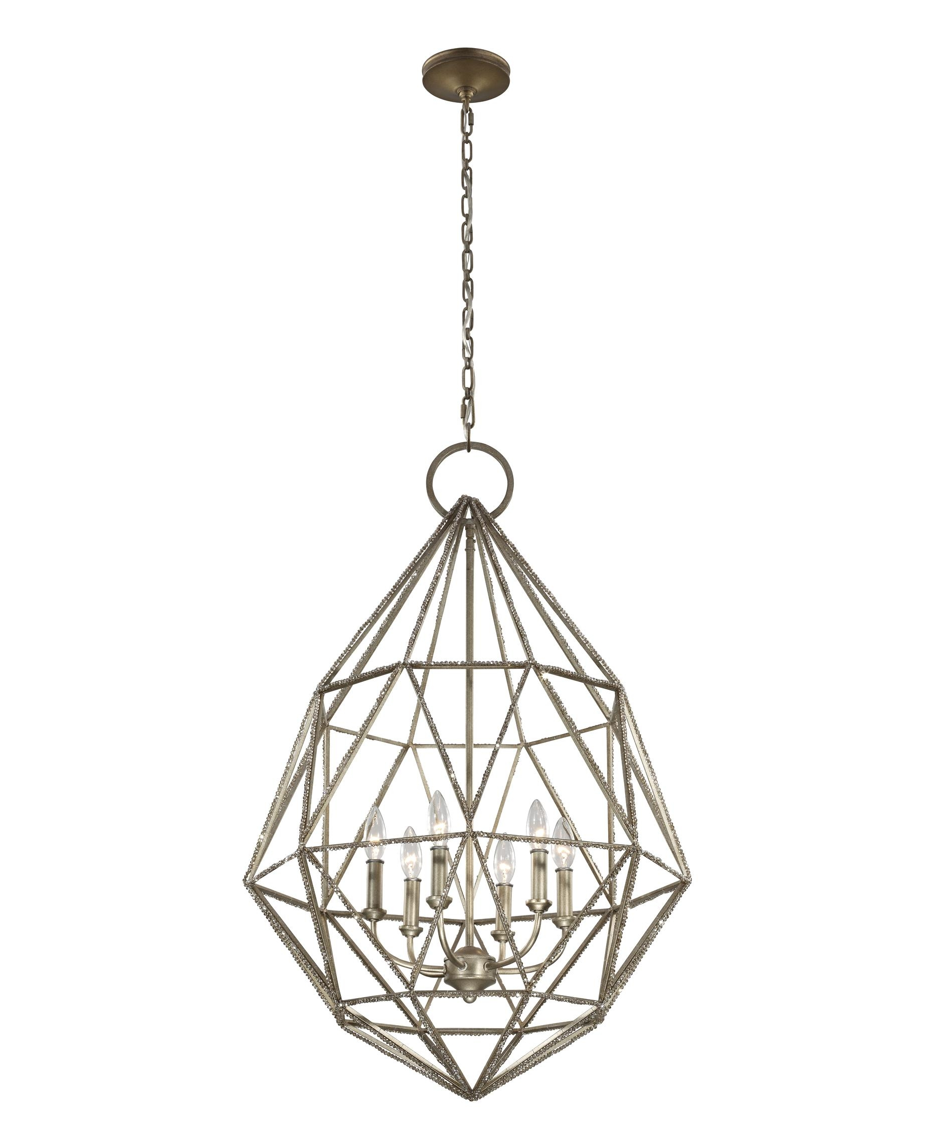 Murray Feiss F2942 6 Marquise 25 Inch Wide 6 Light Chandelier Within Feiss Chandeliers (Image 24 of 25)