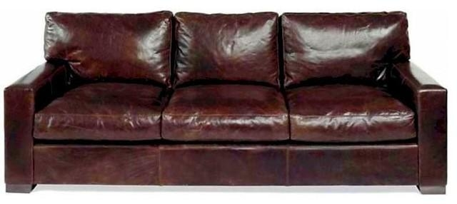 Napa Leather Sofa – Contemporary – Sofas  Leatherfurnutureexpo Throughout Brompton Leather Sofas (Image 14 of 20)
