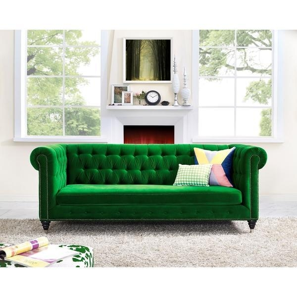 Naples Green Sofa Within Emerald Green Sofas (Image 18 of 20)