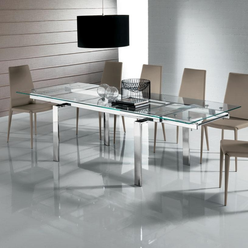 Narrow Extendable Dining Table Uk – Destroybmx For Glass Extending Dining Tables (Image 15 of 20)