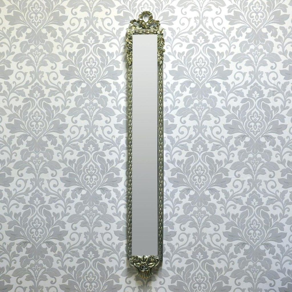 Gold Wall Mirror With Floor Stand