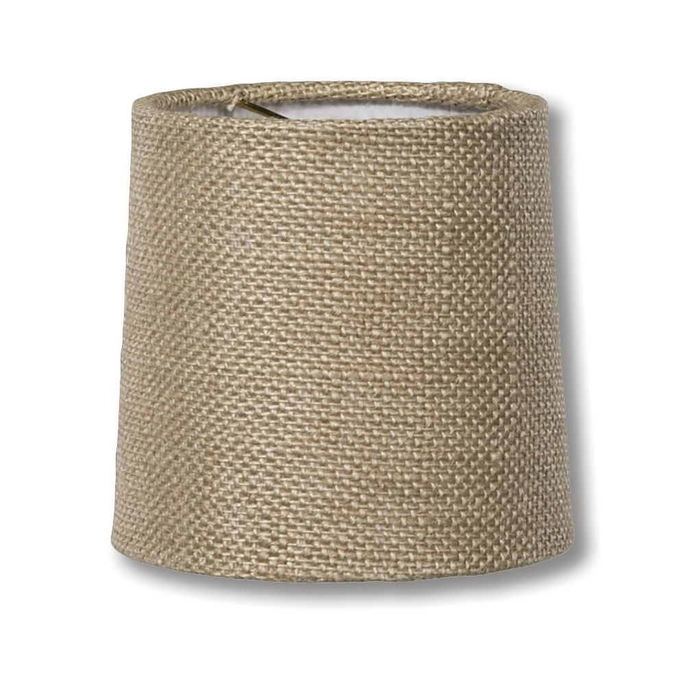 Natural Burlap Chandelier Shade Mini Retro Drum Hardback Antique For Clip On Drum Chandelier Shades (Image 23 of 25)