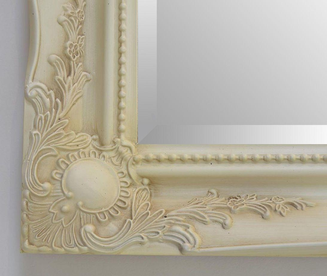 New Cream Shabby Chic Ornate Mirror – Choose Your Size – Ready To Pertaining To Cream Ornate Mirror (Image 10 of 20)