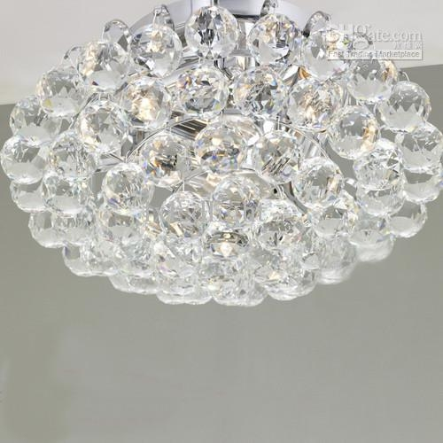 New Crystal Ball Ceiling Light Chandelier Pendant Lamp Fixture Inside Crystal Ball Chandeliers Lighting Fixtures (Image 20 of 25)