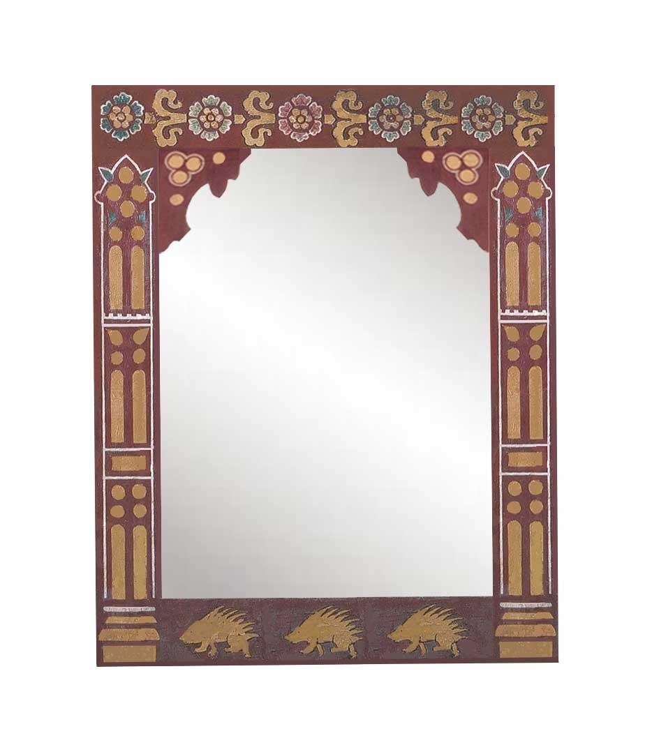 New Gothic Revival Mirrors & Mirror Frames, Carved Painted Gilded Throughout Gothic Style Mirror (View 13 of 20)