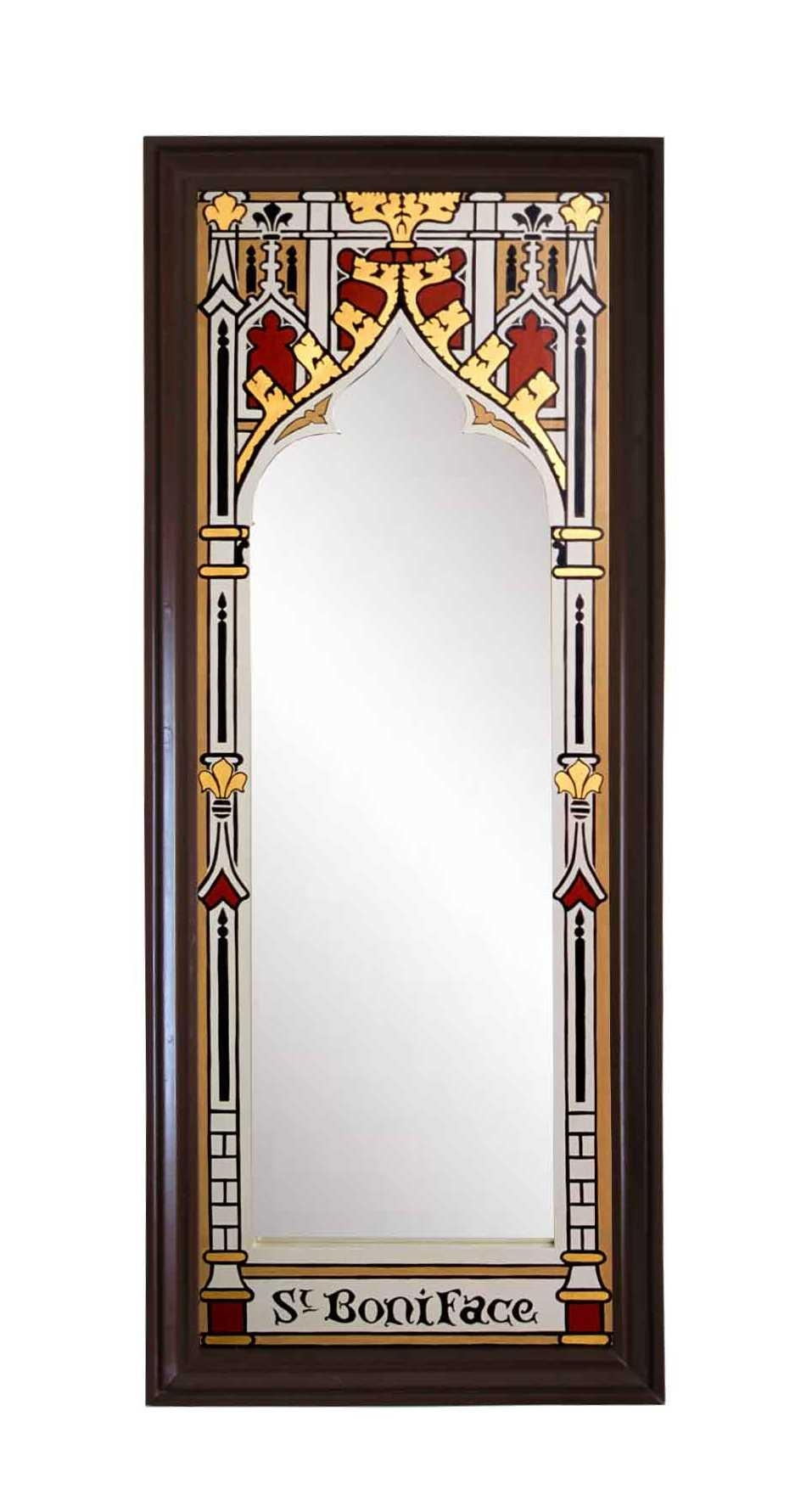 New Gothic Revival Mirrors & Mirror Frames, Carved Painted Gilded With Regard To Gothic Style Mirror (View 2 of 20)