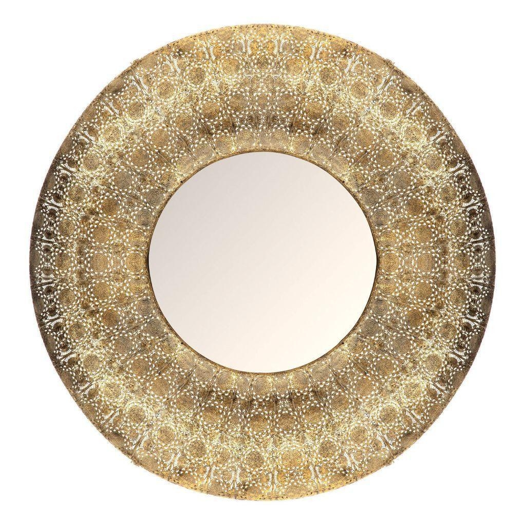New Large Gold Round Moroccan Mirror | In Leicester Throughout Large Round Gold Mirror (Image 17 of 20)