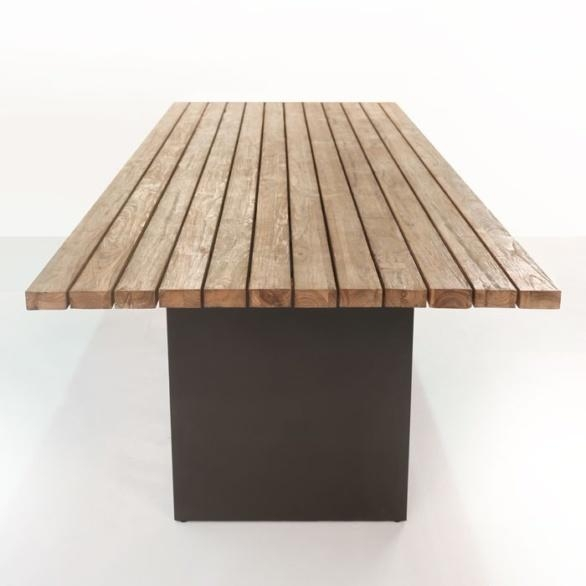 New York Reclaimed Teak Dining Table | Teak Warehouse In New York Dining Tables (Image 18 of 20)