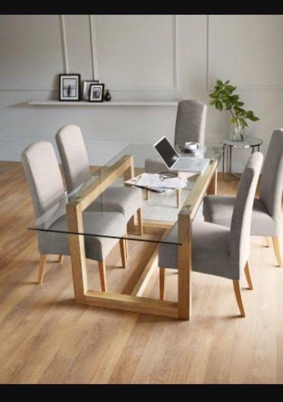 Next Brooklyn Glass Oak Dining Table | In Stoke Newington, London In Glass Oak Dining Tables (View 3 of 20)
