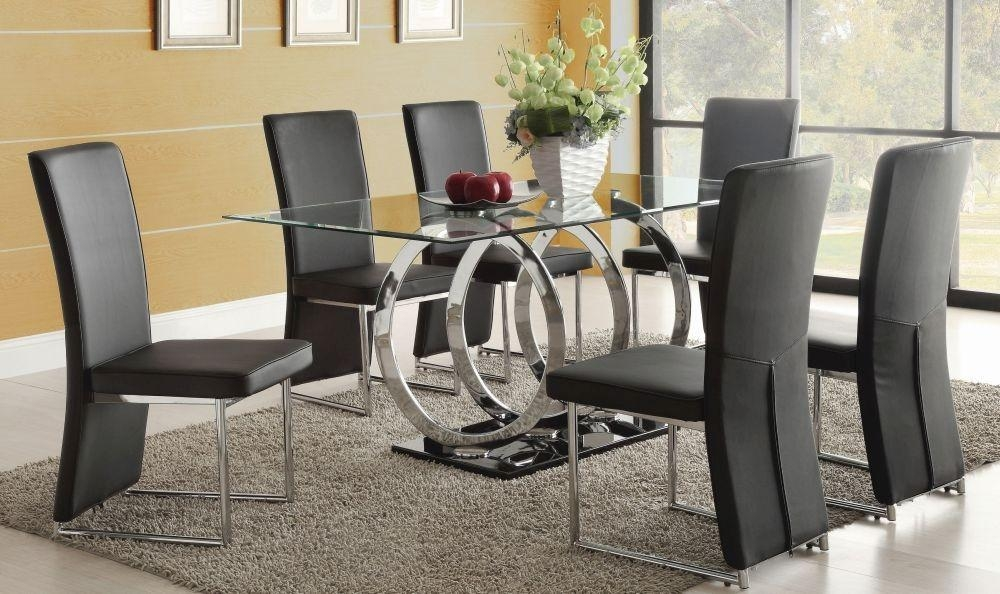 Nice Round Glass Dining Table And 6 Chairs Imposing Ideas Tables Inside 6 Seat Dining Tables (Image 15 of 20)