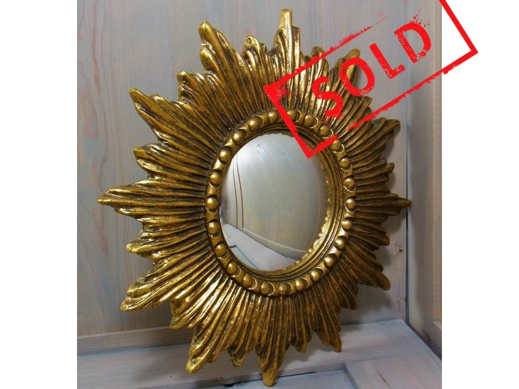 Nice Starburst Sunburst Resin Wall Convex Mirror Mid Century Inside Starburst Convex Mirror (Image 14 of 20)