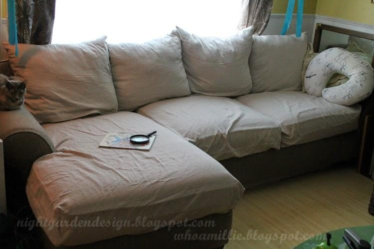 Night Garden Blog: Cotton Canvas Couch Covers Inside Canvas Sofas Covers (Image 12 of 20)