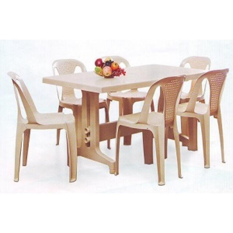 Nilkamal Imperial Dining Table Set With Chair 4002 Model Throughout Imperial Dining Tables (Image 19 of 20)