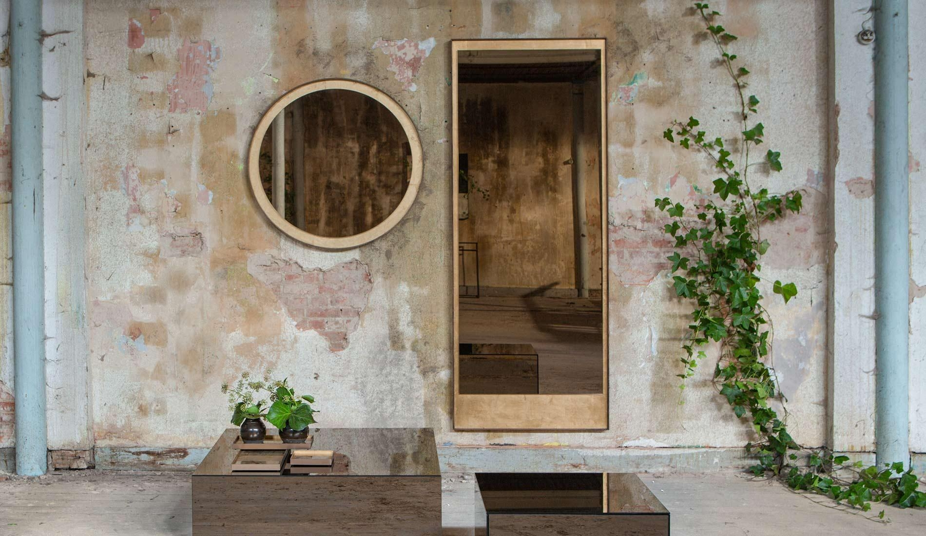 Notre Monde Gold Leaf Bronze Wall Mirror | Dopo Domani Within Bronze Wall Mirror (Image 12 of 20)