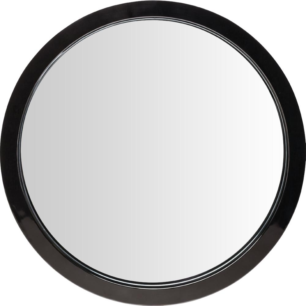 Nuevo Modern Furniture Hgde182 Julia Large Round Mirror In Black In Large Round Black Mirror (Image 18 of 20)