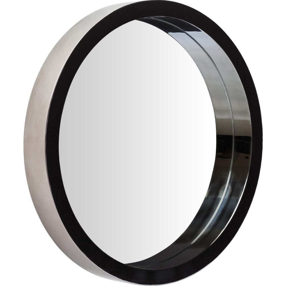 Nuevo Modern Furniture Hgde182 Julia Large Round Mirror In Black Inside Round Black Mirrors (View 3 of 20)