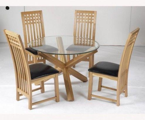 20 Photos Round Glass Dining Tables With Oak Legs | Dining ...