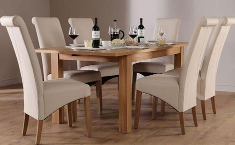 Oak Dining Furniture Regarding Cream And Wood Dining Tables (View 19 of 20)
