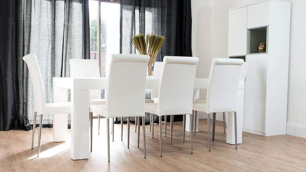 Oak Dining Room Table And 8 Chairs – Destroybmx In 8 Seater White Dining Tables (Image 15 of 20)