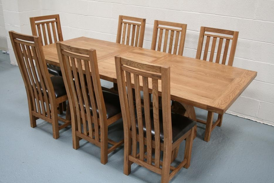 Oak Dining Table Bench – Destroybmx Inside Chunky Solid Oak Dining Tables And 6 Chairs (View 13 of 20)
