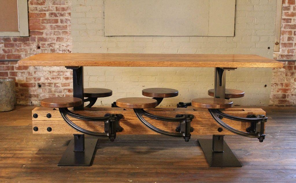 20 Dining Tables With Attached Stools Dining Room Ideas