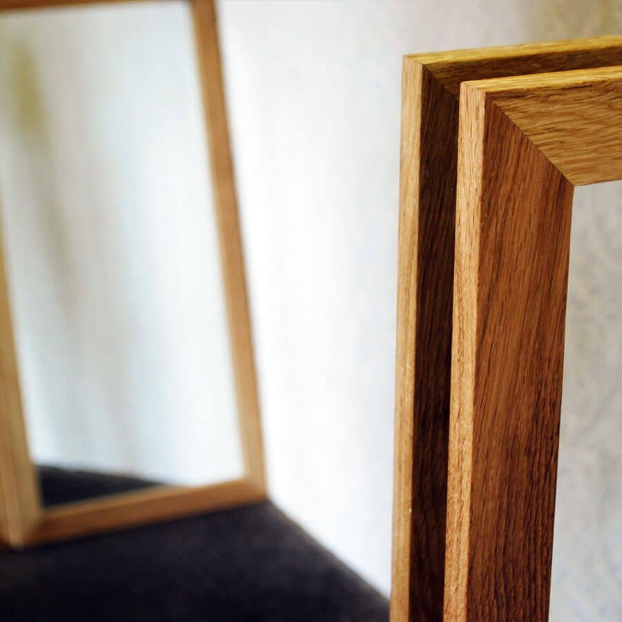 Oak Framed Wall Mirror – Harpsounds (Image 8 of 20)
