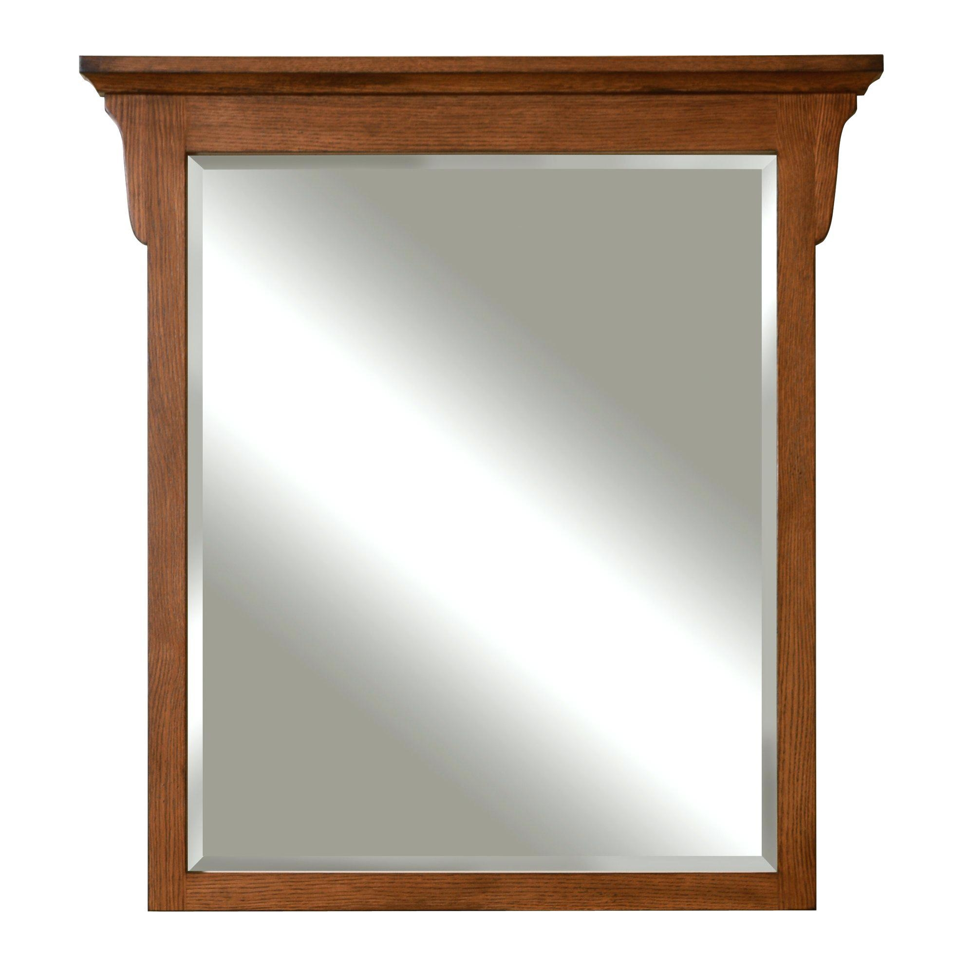 Oak Mirror Rustic Framed Custom Made Distressed Oaklarge Wood With Regard To Large Oak Mirrors (Image 15 of 20)