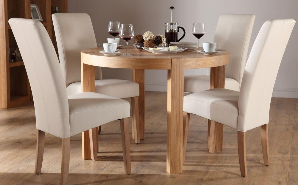 Oak Round Dining Table And Chairs Throughout Oak Dining Tables And 4 Chairs (Photo 7 of 20)
